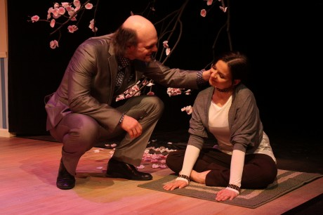 Death (David Zimmerman) and Cerberus (Kimberly Gilbert). Photo by Jati Lindsay.