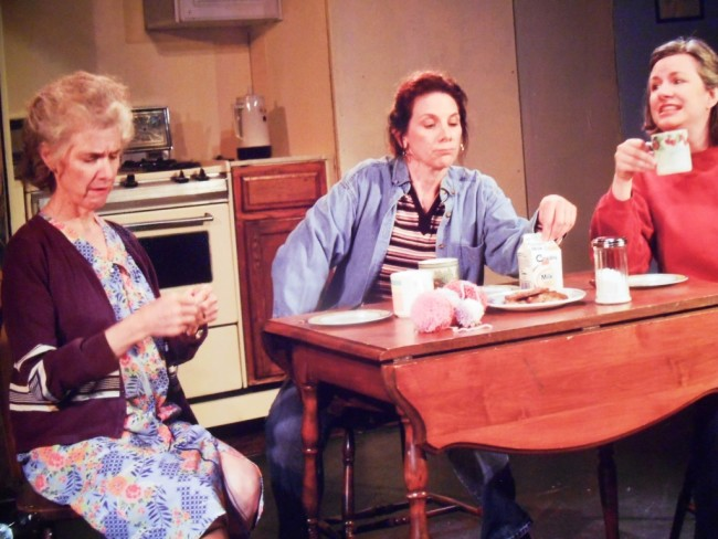 (L to R): Dottie (Declan Cashman), Margaret (Roxanne Fournier Stone), and Jean (Marianne Meyers)