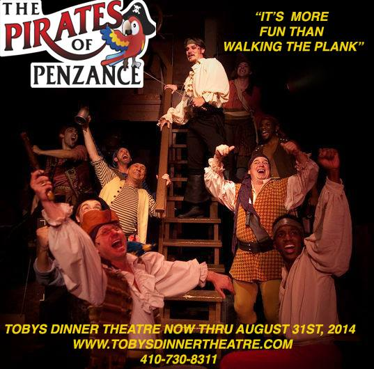 Yo-ho! Yo-ho! A Pirate's life can be for you at Toby's Dinner Theatre!