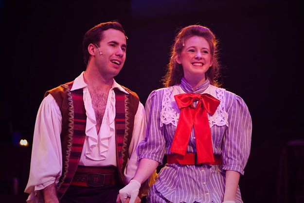 Frederick (L- Nick Lehan) and Mabel (R- Laura Whittenberger) in The Pirates of Penzance at Toby's Dinner Theatre. Photo Courtesy of Kirstine Christiansen.