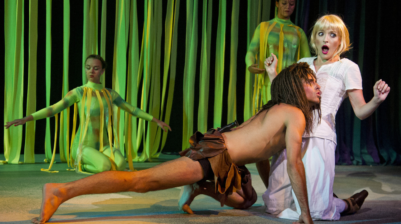 Tarzan(Frankie Rowles) and Jane (Carli Smith)