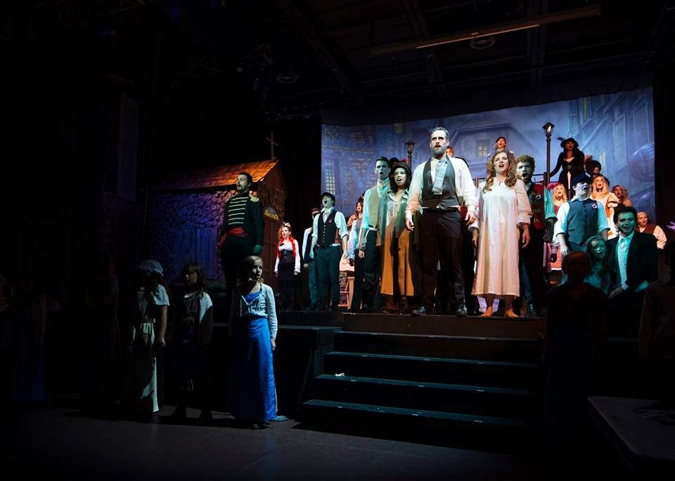 The Company of Glyndon Area Players production of Les Miserables. Photo courtesy of Kevin Grall.