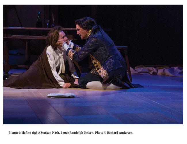 Stanton Nash as Mozart (l) and Bruce Randolph Nelson as Salieri (r)