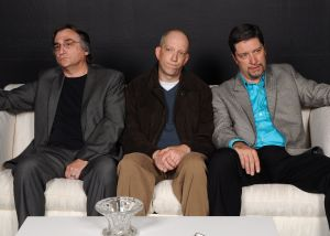 Art (l to r) Mark Scharf as Marc, Eric C. Stein as Yvan, and Steven Shriner as Serge.
