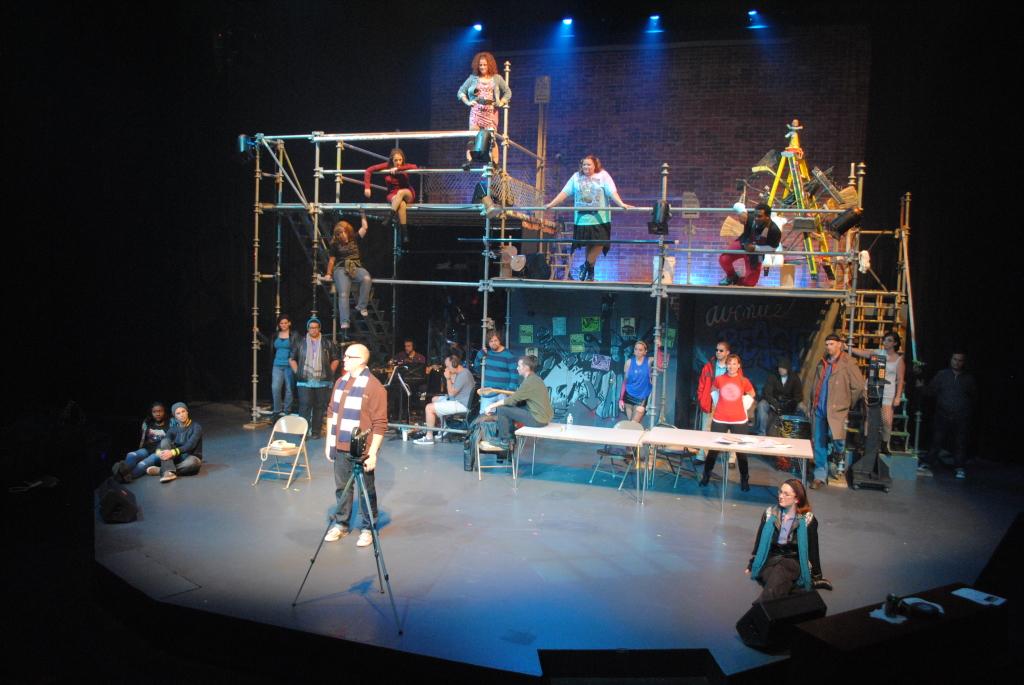 The company of Rent at Phoenix Festival Theatre