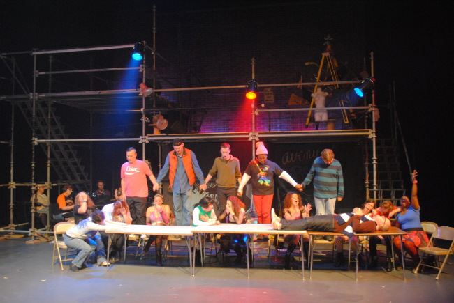 The company of Rent at Phoenix Festival Theatre
