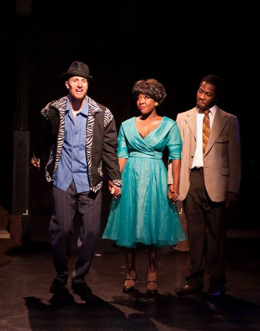 (l to r) Huey Calhoun (Greg Twomey) Felicia Farrell (Ashley Lauren Johnson) and Delray Farrell (Sayne-Khayri Lewis)