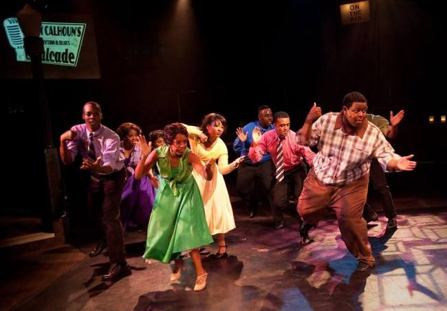 The Company of Memphis at Toby's Dinner Theatre of Columbia