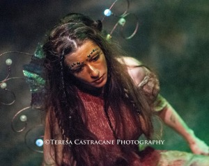Kelsey Painter as Peaseblossom in A Midsummer Night's Dream at Chesapeake Shakespeare Company