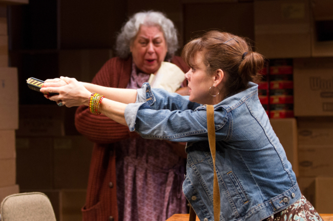 (L to R) Jayne Houdyshell as Alma and Jenna Sokolowski as Phyllis in The Shoplifters at Arena Stage at the Mead Center for American Theater, September 5-October 19, 2014