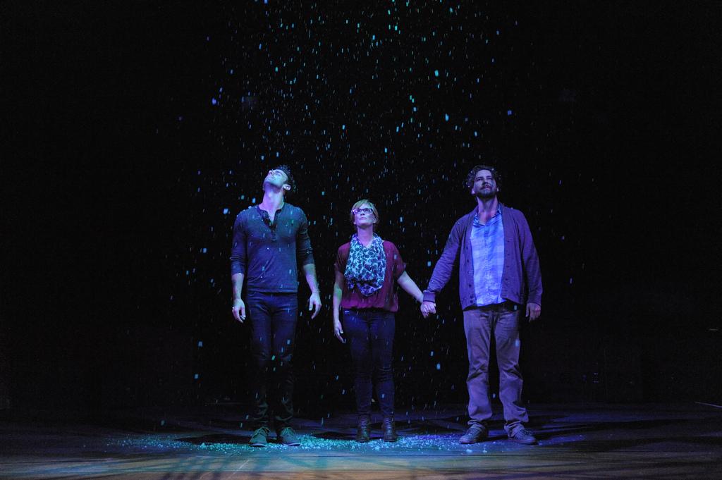The Understudy at Everyman Theatre featuring resident company artists Danny Gavigan, Beth Hylton, and Clinton Brandhagen.