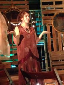 Zoe Kanter as Agatha Christie in Stillpointe Theatre Initiative's production of Vanishing Point