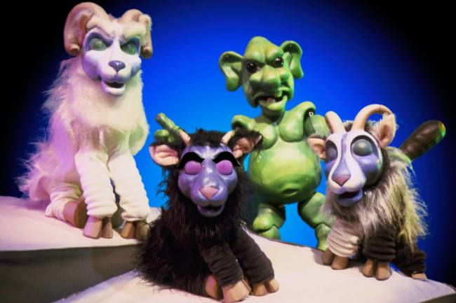 The Three Billy Goats Gruff at The Puppet Company in Glen Echo Park