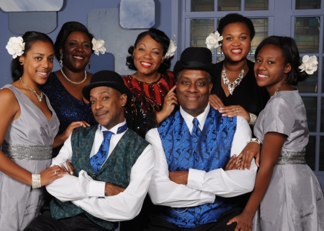 The cast of Vagabond Players' Ain't Misbehavin' (from left to right) Amber Hooper, Melissa Broy Fortson, Timoth David Copney, Brenda D. Parker, Kevin Sockwell, Michelle Bruno, and Summer Hill.