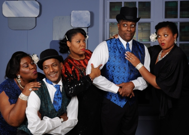 The joint is jumpin' over at the Vagabond Players! The cast of Ain't Misbehavin' featured left to right: Melissa Broy Fortson, Timoth David Copney, Brenda D. Parker, Kevin Sockwell, and Michelle Bruno.