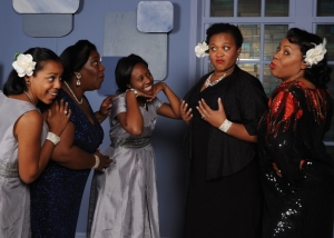 The Ladies of Ain't Misbehavin' (from L to R) Amber Hooper, Melissa Broy Fortson, Summer Hill, Michelle Bruno, and Brenda D. Parker