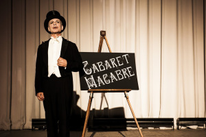 Mark Jaster welcomes audiences to The Cabaret Macabre