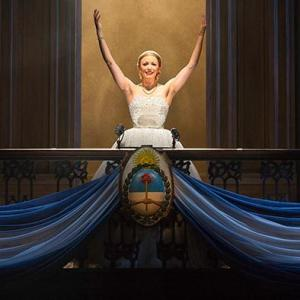 Caroline Bowman as Eva Peron in Evita