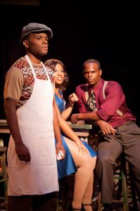 Jonathan David Randal as Gator (featured left) in Memphis at Toby's Dinner Theatre