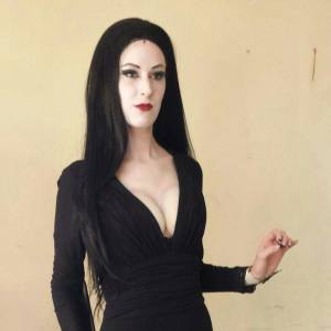 Erika Bankerd as Morticia Addams in The Milburn Stone Theatre production of The Addams Family