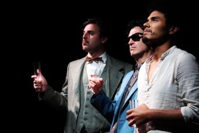 Einstein (Harris Allgeier) Elvis (Orbie Shively) and Picasso (Felix Hernandez) walk into a bar...