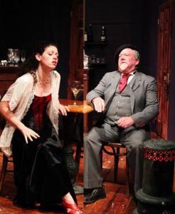 Suzanne (L- Gemma Daviness) and Gaston (R- Scott Graham)