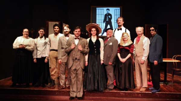 The cast of Picasso at the Lapine Agile at The Salem Players