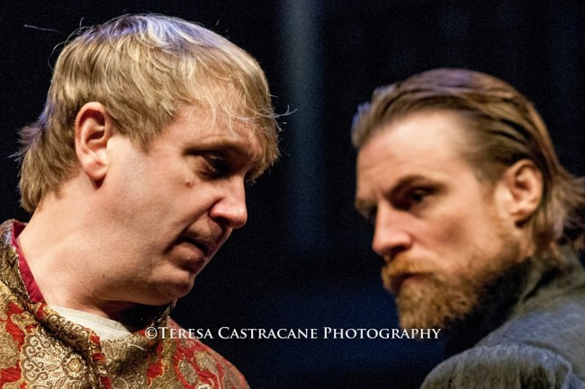 Richard II (l- Jonas David Grey) and Henry Bolingbroke (r-Patrick Kilpatrick)