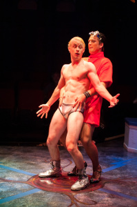 Rocky Horror (l- Stephen Edwards) and Frank (r- Garrett Zink)