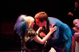 Columbia (l- Emily Biondi) and Eddie (Vince Vuono)