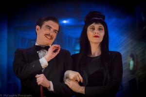 Gomez Addams (L- Bobby Libby) and Morticia Addams (R- Laura O'Brien)