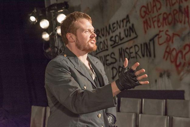 Matt Ancarrow as Audfidius in Coriolanus at Cohesion Theatre Company