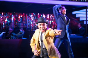(L to R) Clinton Roane as Little Moe and Travis Porchia as Four-Eyed Moe in Five Guys Named Moe at Arena Stage at the Mead Center for American Theater November 14-December 28, 2014.