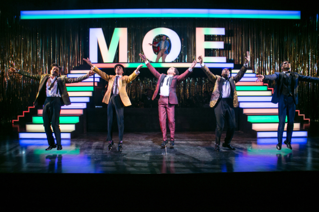 The cast of Five Guys Named Moe at Arena Stage at the Mead Center for American Theater November 14-December 28, 2014
