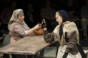 (L to R) Ann Arvia as Golde and Valerie Leonard as Yente in Fiddler on the Roof at Arena Stage at the Mead Center for American Theater October 31, 2014-January 4, 2015.