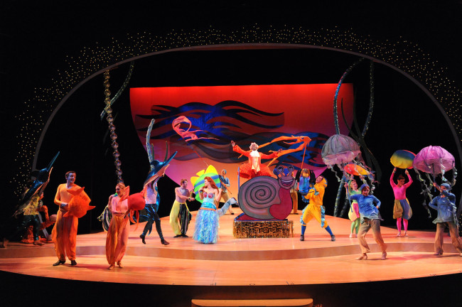 """Under the Sea"" in Olney Theatre Center's production of DISNEY'S THE LITTLE MERMAID."