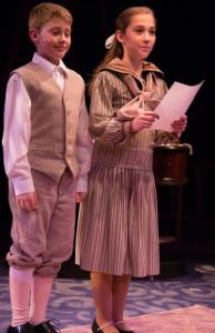 "Michael (Gavin Willard) and Jane (Samantha Yakaitis) reading their advertisement for ""A Perfect Nanny"""