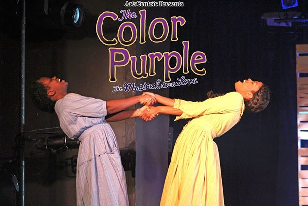 Celie (L- Dayna Marie Quincy) and Nettie (R- Raquel Gregory-Jenings)