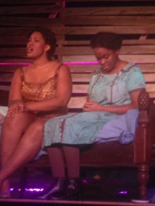 Shug Avery (L- Tierra Strickland) and Celie (R- Dayna Marie Quincy)