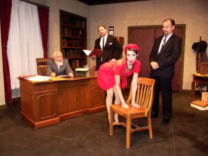 (L to R) Morestan (Martin Hayes), Paul (Matt Leyendecker), Josefa (Erica Jureckson), and Master Beaurevers (Brian Binney)