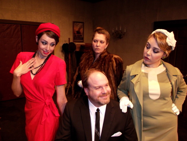 (L to R) Josefa (Erica Jureckson), Paul (Matt Leyendecker), Madam Beaurevers (Mary Koster) and Antoinette (Lea Scherini)