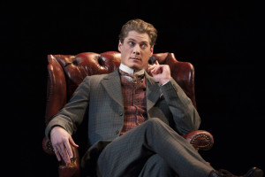 Gregory Wooddell as Sherlock Holmes in Ken Ludwig's Baskerville: A Sherlock Holmes Mystery at Arena Stage at the Mead Center for American Theater, January 16-February 22, 2015.