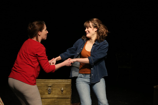 "Susan (L- Marianne Angelella) and Sarah (Kathryn Zoerb) prepare for ""The Summer of Susan and Sarah"""