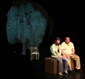 Sarah (L- Kathryn Zoerb) and Mike (R- Lance Lewman)