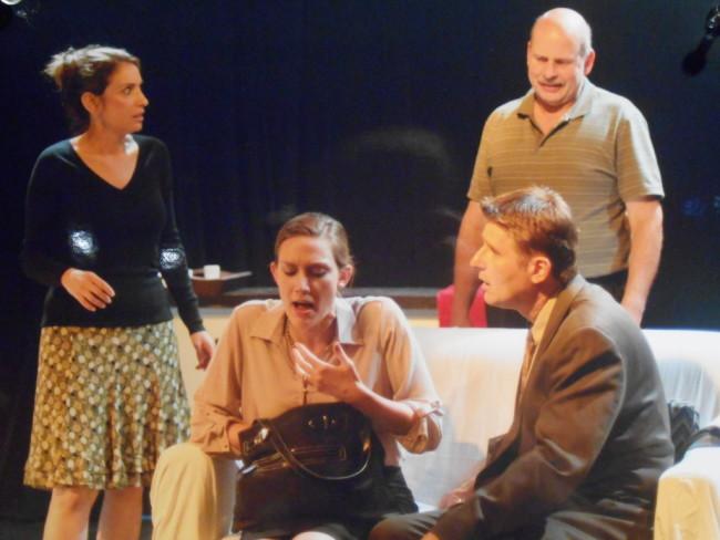 (L to R) Veronica (Alyssa Sanders) Annette (Lauren Kieler) Alan (Andrew Greenleaf) and Michael (Bob Harbaum)
