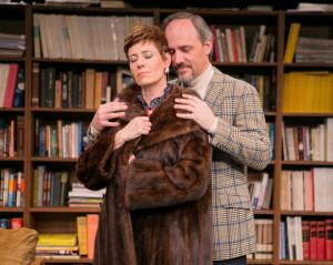 Lydia (L- Julie-Ann Elliott) and Mark (R- Steven Carpenter)