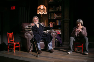 The Professor (L- John Lescault) and Babs (R- Naomi Jacobson)