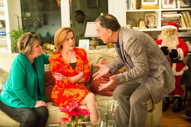 Polly Wyeth (L- Lynda McClary) Brooke Wyeth (C- Laura Malkus) and Lyman Wyeth (R- Dave Gamble)
