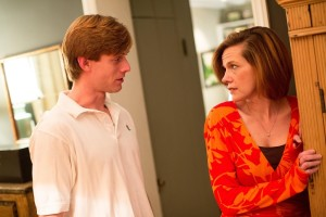 David Shoemaker (L) as Trip and Laura Malkus (R) as Brooke