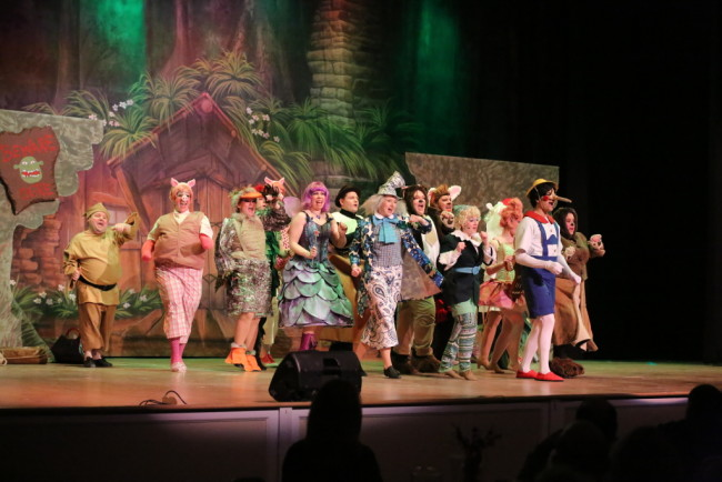"The Fairytale Creature Ensemble of Shrek the Musical performing ""Freak Flag"""